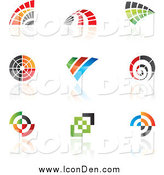 Clip Art of Colorful Abstract Icons by Cidepix