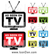 Clip Art of Colorful As Seen on TV Icons by Michaeltravers