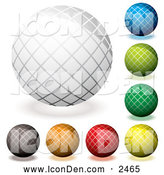 Clip Art of Colorful Grid Orb App Icons by Michaeltravers
