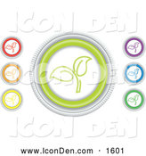 Clip Art of Colorful Seedling Website Icons by Inkgraphics