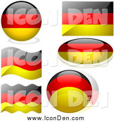 Clip Art of Germany Flag Icons by Dero