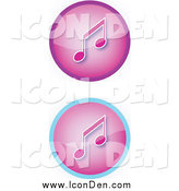 Clip Art of Purple Music Icons by YUHAIZAN YUNUS