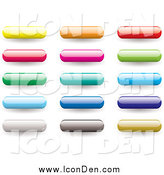 Clip Art of Shiny Colorful Bar App Icons by Michaeltravers