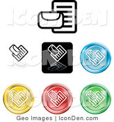 Collection of Different Colored Mail Icon Symbols White Background by AtStockIllustration