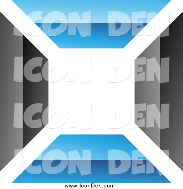 Clip Art of a Blue and Black Wall Icon