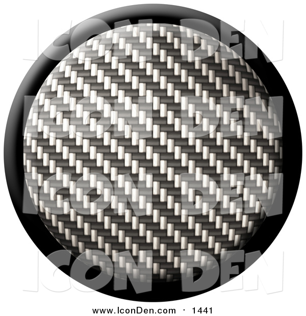 Clip Art of a Carbon Fiber Internet Button Icon