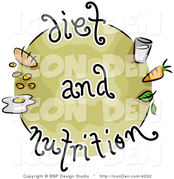 Clip Art of a Diet and Nutrition Food Icon