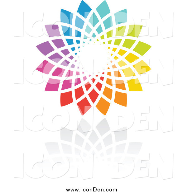 Clip Art of a Rainbow Circle Icon