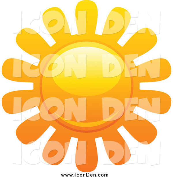 Clip Art of a Sun with Petal Rays Icon
