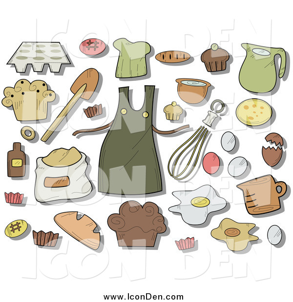 Clip Art of Baking Icons and Items