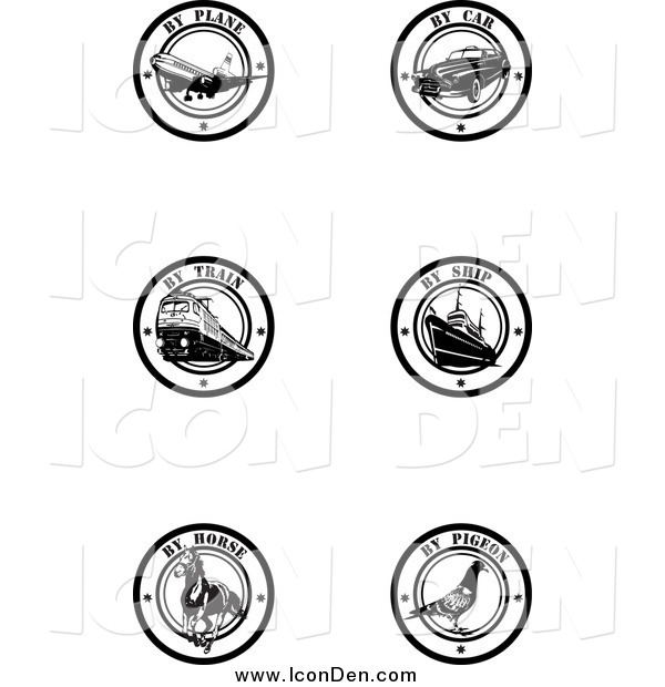 Clip Art of Black and White by Delivery Seals