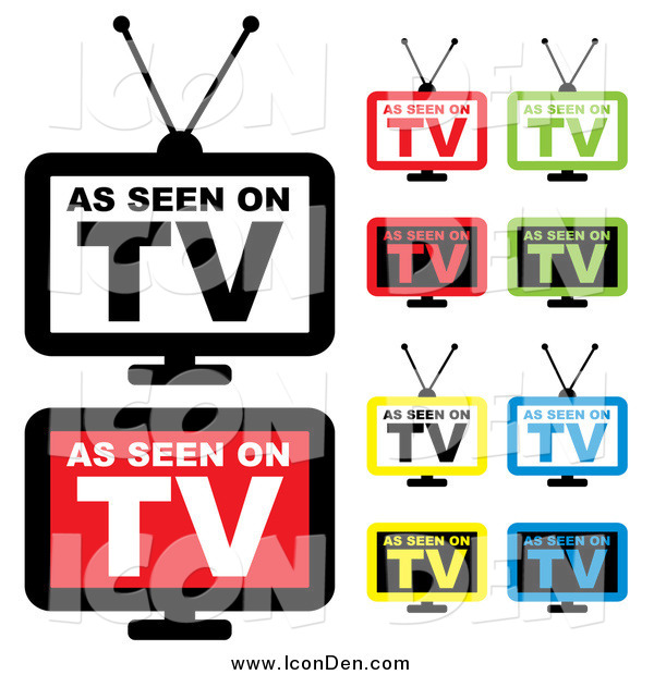 Clip Art of Colorful As Seen on TV Icons