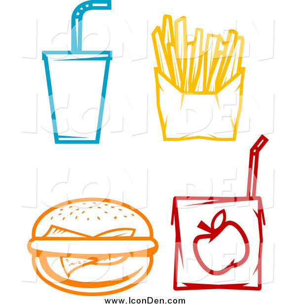 Clip Art of Food Icons