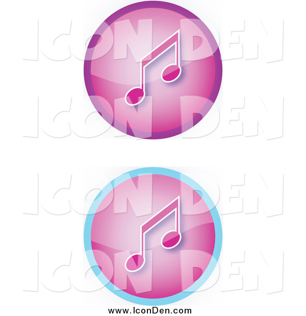 Clip Art of Purple Music Icons