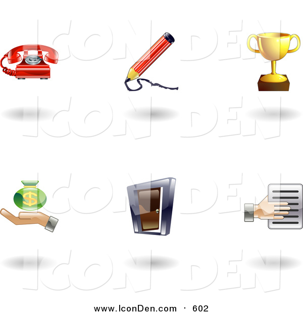 Clip Art of Shiny Business Icons