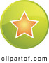 Clip Art of a Round Green Favorite Star Internet Icon by Kheng Guan Toh