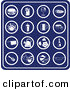 Clip Art of a Set of Blue Food IconsSet of Blue Food Icons by AtStockIllustration