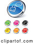 Clip Art of Shiny Colored Chatting Website Buttons by Beboy