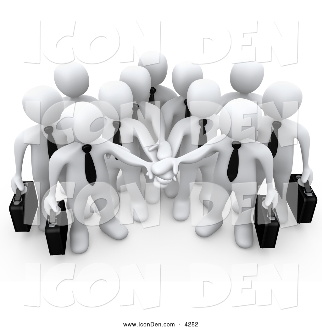 Clip Art of a Group of Office Business People Carrying ...